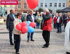 Tag des Handwerks in Stralsund, Uwe Ambrosat, Christel Woyna, Thomas Kuphal