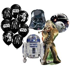 The Ultimate 12pc Star Wars Birthday Balloon Bouquet by Anagram