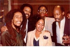 **Bob Marley** & Company, Warwick Hotel, Philadelphia, PA, USA, November 1979. ►Press Party ►►More fantastic pictures, music and videos of *Robert Nesta Marley* on: https://de.pinterest.com/ReggaeHeart/