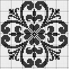 This Pin was discovered by Mar Cross Stitch Pillow, Cross Stitch Charts, Cross Stitch Designs, Cross Stitch Patterns, Crochet Patterns, Filet Crochet Charts, Crochet Cross, Knitting Charts, Knitting Stitches