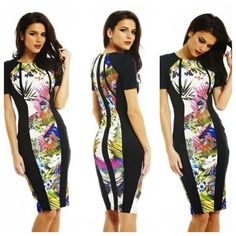 Tropical slimming dress Fitted Dresses, Tropical, My Style, Fitness, Pattern Sewing, Groomsmen, Short Dresses, Sheath Dresses, Health Fitness