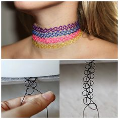 DIY 90's tattoo choker. Can't believe how easy this is!