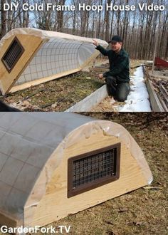 "Build a Garden Cold Frame Mini Greenhouse DIY Project Homesteading - The Homestead Survival .Com ""Please Share This Pin"" Miniature Greenhouse, Greenhouse Plans, Greenhouse Gardening, Cold Frame Gardening, Greenhouse Frame, Greenhouse Wedding, Diy Mini Greenhouse, Cheap Greenhouse, Portable Greenhouse"