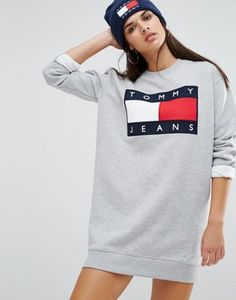 Tommy Jeans - Robe sweat avec logo