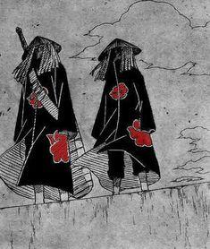 Itachi y Kisame Itachi Uchiha, Naruto Sasuke Sakura, Naruto Shippuden Sasuke, Naruto Art, Boruto, Anime Naruto, Manga Anime, Kakashi, Naruto Tattoo
