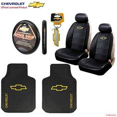 8pcs #chevy factory car truck seat covers #floor mats steering #wheel cover set,  View more on the LINK: 	http://www.zeppy.io/product/gb/2/301762383115/