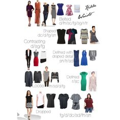 Waist possibilities by type This was HARD. While I really worked to get all the outfits true to their type sometimes I had to settle and there are details I do. Gamine Style, Soft Gamine, Soft Classic Kibbe, Dramatic Classic, Flamboyant, Fashion Beauty, Fashion Tips, Donna Karan, Vestidos