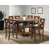 Found it at Wayfair - Lodge 7 Piece Counter Height Dining Set