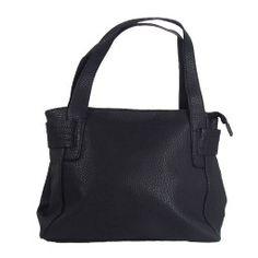 f9c18e68586 Mooie casual zwarte dames tas, dit model sluit door middel van de rits aan  de
