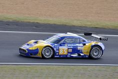 Spyker C8 Laviolette GT2-R 2009 Le Mans Tom Coronel Jaroslav Janis / Jeroen Bleekemolen #motorsport #racing #lms #car #motor #passion #sport #prototype #gt #24h