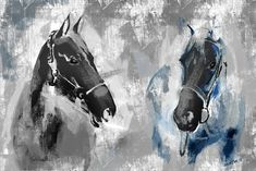 Rustic painting of Horses. Great for home decoration. Available as a canvas or giclee print Rustic Art, Rustic Design, Horse Drawings, Animal Drawings, White Horse Painting, Rustic Painting, Wall Art Prints, Canvas Prints, Framed Canvas