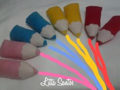 Mini Lápis e Mini Pinceis para lembrancinhas - encomenda da Ana