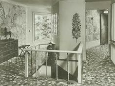 josef frank house...too busy on the floor but along with his white house I like the idea of change of colour flooring