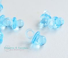 12 Mini Plastic Pacifiers for Baby Shower Favors