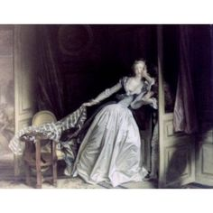 The Stolen Kiss by Jean Honore Fragonard oil on canvas 1780 1732-1806 Russia St Petersburg The Hermitage Canvas Art - Jean Honore Fragonard (24 x 36)