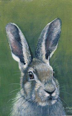 "Saatchi Online Artist Donna McGlynn; ""Hare"": @Pamela Kirkpatrick"