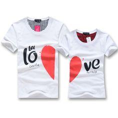 Long-sleeve lovers short-sleeve beach basic t-shirt lovers class service $16.11