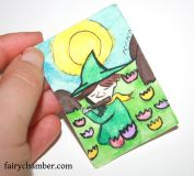 Original Miniature collectible Dolls house Painting showing Snuffkin from the moomin stories playing beautiful music. Painting Size approximately : 7 x 5 cm / 2,7 x 1,9 cm Works best in 1: 12 scale dollhouse/ miniature box. Great addition to room boxes or into art collection. This is a collectible Dolls house painting-NOT a toy: Not suitable for children. Painting is painted by me, the artist and illustrator Niina Niskanen with watercolor and acrylics and signed and dated on the back. Free…