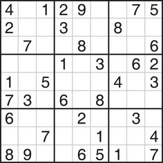 Free printable sudoku puzzles including really easy ones for ...