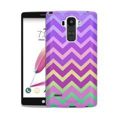 LG G Stylo 2 Rainbow on Chevron Pink Purple Skim Case