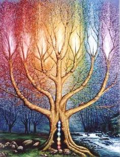 El arbol de luz (The Tree of Light) by David Mateu (I wish I had the patience to paint this)