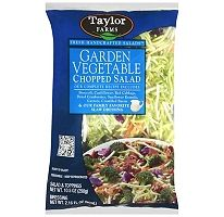 Taylor Farms® Garden Vegetable Chopped Salad   This is GREAT STUFF!! salad, dressing, seeds & bacon all included.