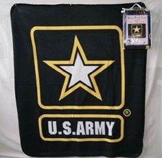 "Blanket Fleece Throw Military U S Army Star emblem 50/""x60/"" NEW protective sleeve"