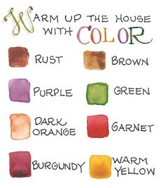colors for fall from Susan Branch