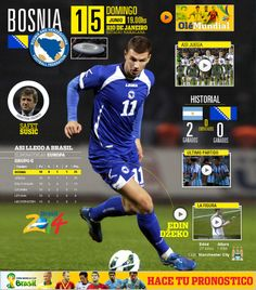 ARG vs. Bosnia domingo 15/6 19hs