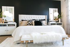 Sink into this clean, comfortable bedroom at the end of a long day and you're…