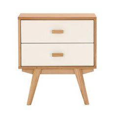 Sofia Bedside Table - 2 Drawers - Scandinavian Furniture