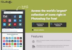 Access the world's largest collection of icons right in Photoshop for free