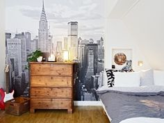 I guess I wouldn't mind having the New York skyline in my room