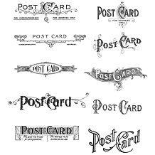 Tim Holtz Cling Rubber Stamp Set - Postcards