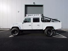 #Landrover #Defender 130 Double Cab PickUp TDCi [2.2] Over Land Polar Edition Pick Up Diesel White