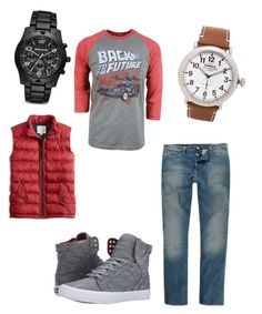 """""""Back to the Future"""" by priv-shenoy on Polyvore featuring Supra, River Island, Lucky Brand, Shinola and Michael Kors"""