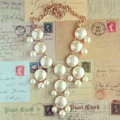Pearl Bauble Necklace!!