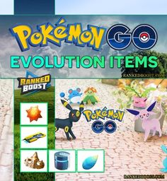 Pokemon GO Evolution Items List. Evo Items used to evolve Generation 2 Pokemon and can be worn Pokemon to grant stat buffs. Gen 2 Items.