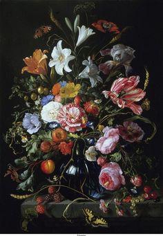 Jan Davidsz de Heem still life painting with flowers