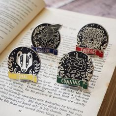 Magical House Enamel Pin Collection - Literary Emporium Im saving this here because it specifically has an eagle, and not a raven, and i know you guys get a lot of merch with the wrong bird and colors Harry Potter Pin, Book Drawing, Pin And Patches, Iron Patches, Cool Pins, Ravenclaw, Pin Badges, Zine, Pin Collection