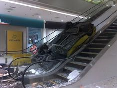 Can't use an escalator without stumbling at least once.