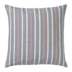 Ikea Daggvide Cushion Cover Pillow (Insert Separate) Striped Grey Gray 20 X 20