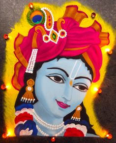 50 Most Beautiful Face Rangoli Design (ideas) that you can make during any occasion on the living room or courtyard floors. Easy Rangoli Designs Videos, Easy Rangoli Designs Diwali, Simple Rangoli Designs Images, Rangoli Designs Latest, Rangoli Designs Flower, Free Hand Rangoli Design, Rangoli Patterns, Colorful Rangoli Designs, Rangoli Ideas