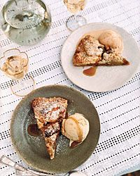 Apple Crostada with Brown Butter Streusel  5 star staff pick Food & Wine goes way beyond mere eating and drinking. We're on a mission to find the most exciting places, new experiences, emerging trends and sensations.