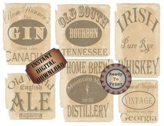 Booze Bottle Labels 6 Bootleg Printable by TheGlockyCoggler