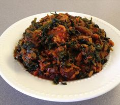 healthy African food This Vegetable Soup (Edikang Ikong): is a traditional Nigerian soup that is full of fresh vegetables. A typical Edikang Ikong recipe includes pumpkin, tomatoes and onions. West African Food, Caribbean Recipes, Caribbean Food, Nigerian Food, Middle Eastern Recipes, Fresh Vegetables, International Recipes, Soul Food, My Favorite Food