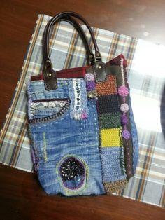 청바지 리폼 프리스타일 가방