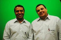 Edinaldo Santos e Rodrigo Rangel, vendedores do Vale Shop TV.