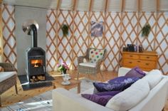 Yurts on a secluded island in Sweden - massage and pool on site too!