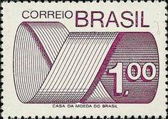 Sello: Stamp (Brasil) (Mark Post and Emblem) Mi:BR 1439,Sn:BR 1257,Yt:BR 1109,RHM:BR 552